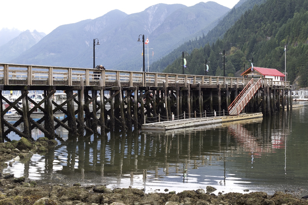 Pier: A pier at Horseshoe Bay, Vancouver, Canada.