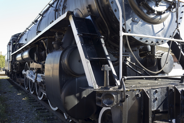 Old steam locomotive: An old disused steam locomotive in Canada.