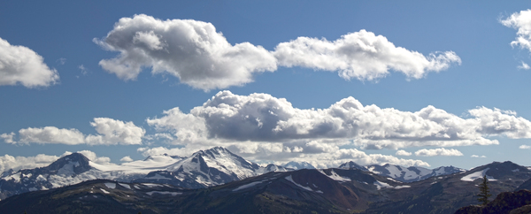 Rocky Mountain panorama: Panorama of the Rocky Mountains, Canada.