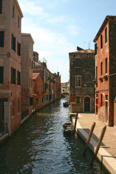 Venice waterway: A backwater in Venice, Italy.