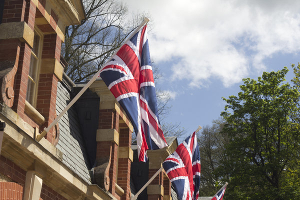 Jubilee flags: Union jack flags on display in honour of the Queen's jubilee year.