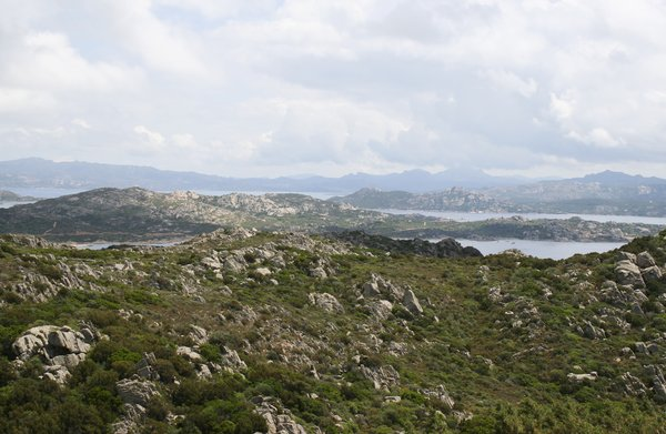 Rocky landscape: Landscape of the Maddalena islands, Sardinia.