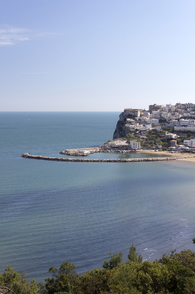Italian harbour: A harbour on the coastline of the Gargano region, Puglia, Italy.