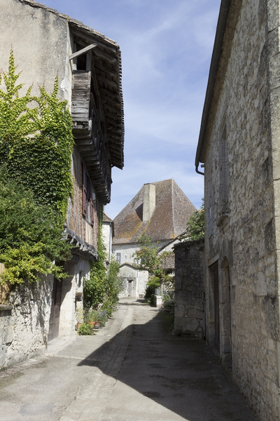 Old houses: Old houses in a village in the Dordogne, France.