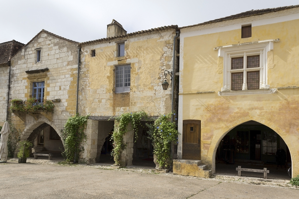 Ancient houses: Ancient houses in a village in the Lot/Dordogne area of France.