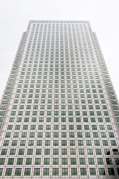 Skyscraper: A skyscraper at Canary Wharf, London, England.
