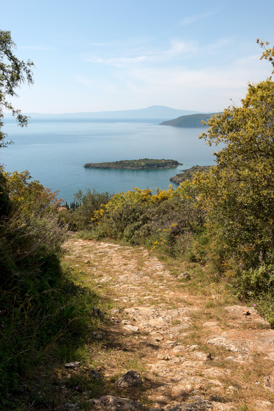 Ancient path: An ancient path - now a walkers' trail - in southern Greece.
