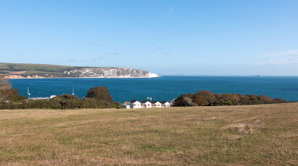Coastal view: Coastal view at Peveril Point, Dorset, England.