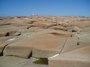Red granite: The red cliffs on the swedish westcoast