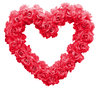 Red roses heart: A heart made of red roses.