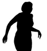 A girl: Female silhouette.