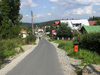 Street in the mountain town: Szklarska Poreba, Poland. A small street