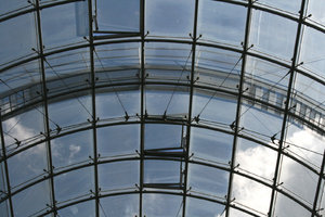 Glass ceiling: A glass ceiling.
