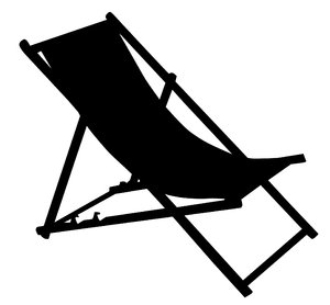 Deckchair silhouette: Just a shade.