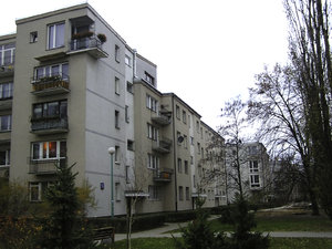 Block of flats: A block of flats in Warsaw.