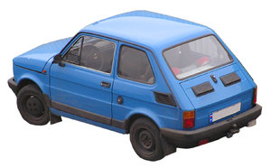 Blue car: It is FIAT 126p, old school auto produced in Poland.Please mail me if you found it useful. Just to let me know!I would be extremely happy to see the final work even if you think it is nothing special! For me it is (and for my portfolio)!