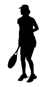 Tennis player: A tennis player silhouette.Please comment this shot or mail me if you found it useful. Just to let me know!I would be extremely happy to see the final work even if you think it is nothing special! For me it is (and for my portfolio)!