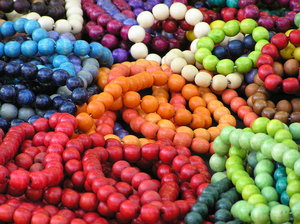 Bracelets: Colorful beads necklaces and bracelets.Please comment this shot or mail me if you found it useful. Just to let me know!I would be extremely happy to see the final work even if you think it is nothing special! For me it is (and for my portfolio).