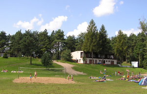 Beach in Krukranki: A small beach near the lake.