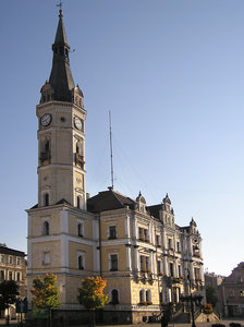 A town hall in Ladek Zdroj: A town hall, neo-renaissance.