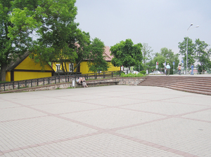 Trokai square: A square in Trokai, Lithuania.