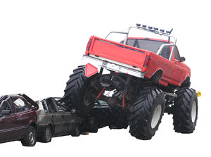 Monster Truck: A monster truck isolated