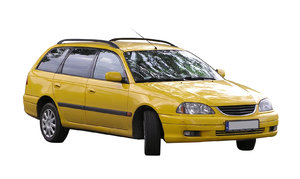 Yellow car: A car