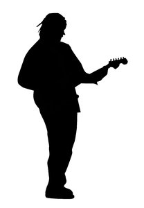 Guitarist: A man playing the guitar.