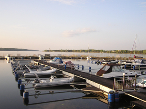 Marina in the evening: Marina. Lake Zegrzynski, Poland
