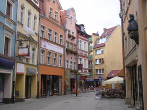 Old street: A street in old parts of Jelenia Góra
