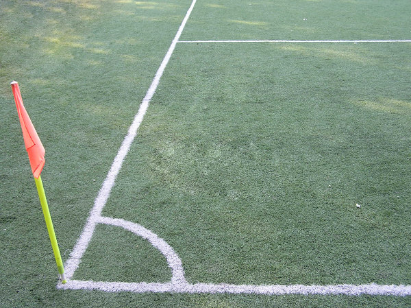 Soccer field: A field to play soccer. Artificial one.