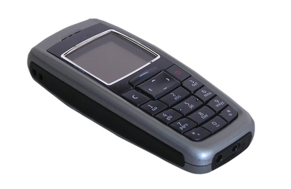Mobile phone: An old mobile phone.