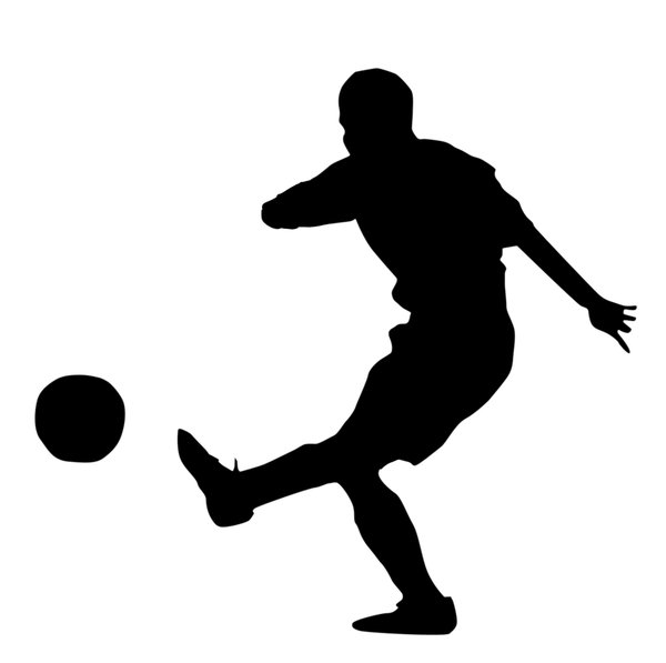 Soccer player: A football player silhouette.Please comment this shot or mail me if you found it useful. Just to let me know!I would be extremely happy to see the final work even if you think it is nothing special! For me it is (and for my portfolio).