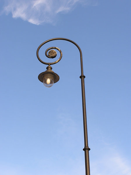 Lamp: An old lamp in Ladek Zdroj.