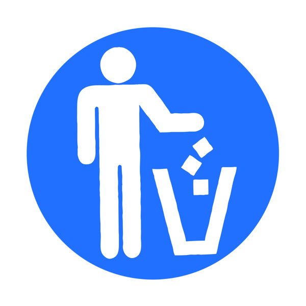 Clean up sign: Clean up.