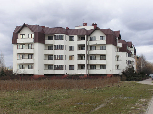 New flats: A newly built flats, first decade of XXI century, Poland.