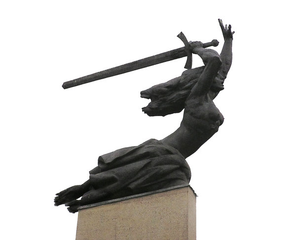 Woman with a sword: One of Warsaw's landmarks. Nike.