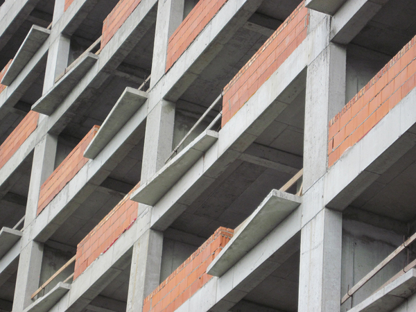 Construction zone: A newly built block of flats.