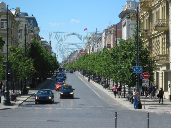 Main road: A main street in Vilnius.