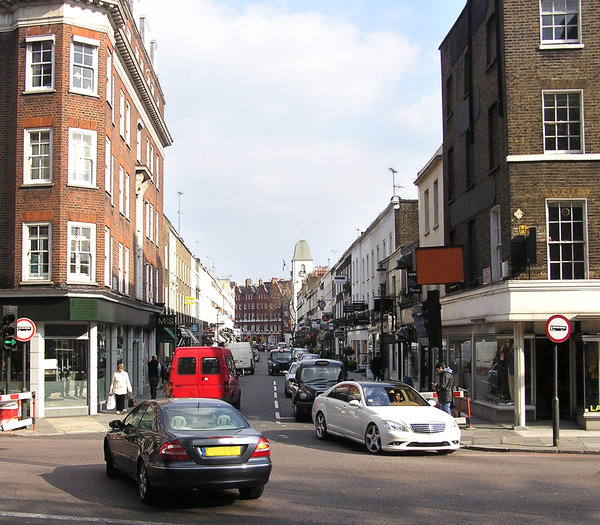 London street: Some cars on London street.