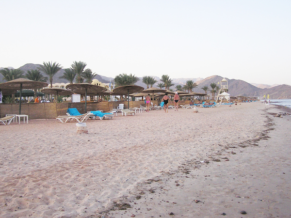 Beach resort: A resort on the seaside. Taba Heights, Egypt.