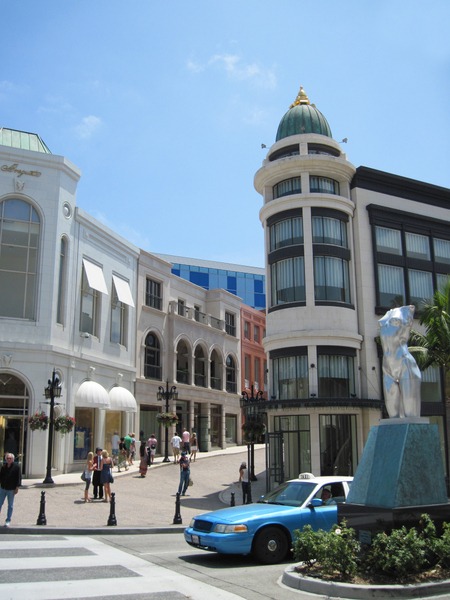 Rodeo Drive: Rodeo Drive area, Beverly Hills, Los Angeles