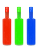 RGB: Three bottles in RGB colors