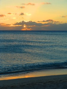 Grand Cayman Seven Mile Beach: Grand Cayman sunset on Seven Mile Beach.