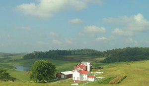 Ohio Farm: Last of summer - Ohio Farm and rolling hillsides.