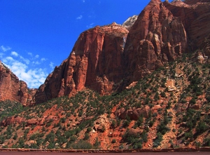 Zion National Park: Bridge Mountain area in Zion National Park, Springdale, Utah. Springtime