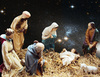 Star-lit Night: A photo I took of our church crib last year which, thanks to NASA, I have given a star-filled dimension