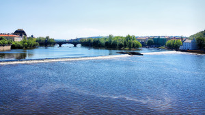 Vltava river rapids, Prague: The file is ready to be your desctop wallpaper at 1920*1080 resolution.