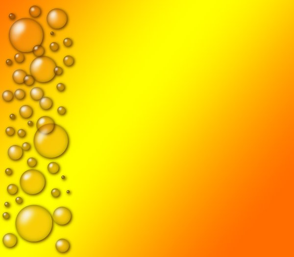 orange bubbles: orange bubbles on orange gradient