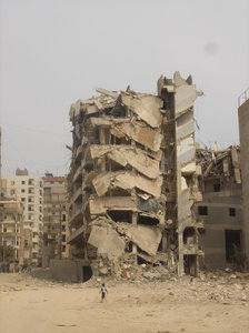 This is what bombs do: A scene from the destruction caused by Israel's summer war on Lebanon in July 2006